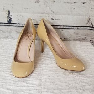 Vince Camuto Nude Patent Leather Pumps Heels